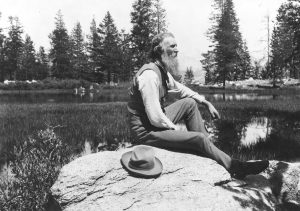 Photo of John Muir, conservationist and father of the national Park System in the USA